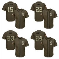 badminton short service - Men s Seattle Mariners Ken Griffey Nelson Cruz Seager Green Salute to Service Stitched Baseball Jersey