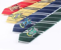Wholesale 4 Color Harry Potter Tie Clothing Accessories Borboleta Necktie College Style Tie Harry Potter Gryffindor Series Tiestyle Gift b483