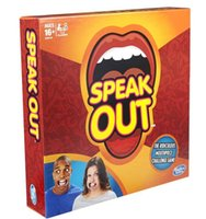 Wholesale Speak Out Game Cards Board Game Christmas Halloween Party Game KTV Mouthpiece Challenge Game With Retail Box DHL sets