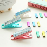 Wholesale Geometric manual stapler No color Staples set Mini grapadora papelaria Stationery office accessories school supplies
