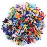 144 Estilo del empuje Pikachu calcula los juguetes 2-3 cm de dibujos animados Los niños de DHL multicolor Pikachu Charizard Eevee Bulbasaur Suicune PVC Mini juguete de modelo B001