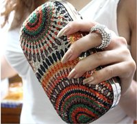 Wholesale 2016 New Women Clutch Knuckle Rings Evening Bag Ladies Party Wedding Bride Fashion Wallet Day Clutch Makeup Bags