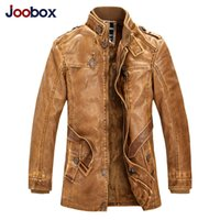 Wholesale New brand Men Motorcycle PU leather jacket zipper fly slim fit jaqueta de couro masculina Windbreak coats breathable wool blended lining
