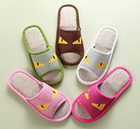 babouches shoes - men women small cartoon animal design non slip flat slippers cotton linen indoor home shoes flip flops babouches pairs