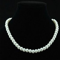 Wholesale Chic Single Strand Faux Imitation Pearl mm Pearl Bib Statement Necklace Jewellery Gift Fashion Womens Short Chain Fine Jewelry For Women