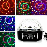 Wholesale laser stage light Auto Voice activated LED Crystal Magic Ball Disco DJ Party Stage Light Lighting with MP3 Player HOT NEW