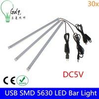 Wholesale 30x New Arrival USB Switch Adjustable LEDs CM W SMD LED Rigid Strip Hard Bar Light Tube Lamp DC5V