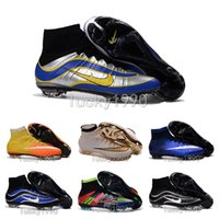 Wholesale 2016 New oriGINal Magista Obra FG high ankle football boots AG SupERfly V soccer shoes CR7 MercURial men SupERflys cleats HyperVENom