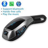 Wholesale X5 Handsfree Wireless Car Bluetooth Kit Car Charger USB Port LCD MP3 Player U Disk FM Transmitter for Mobile Phone