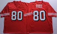 Wholesale 80 Jerry Rice Dwight Clark Name And Number Are Stitched Mens Throwback Football Jerseys M XL