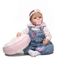 big baby birth - Top Popular inch Reborn Baby Doll Open big mouth and big eyes Dress the jeans lifelike Reallive Newborn Baby Doll For kids Birthday Gift