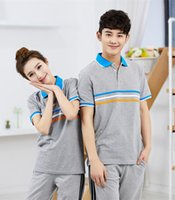 animal clothing company - Custom cotton material Work clothes polo shirt for company clothing factory hotel restaurant KTV party t shirt student class clothing