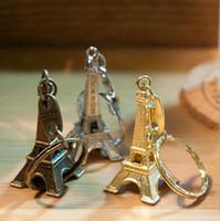 advertising tin - Eiffel Tower Keychains Alloy Retro Key Pendant Car Keychain Advertising Gift Hot Selling Via DHL Ship
