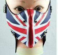 bar accessories uk - new design fashion cool UK rock punk leather mask party hip hop mask Bar Stage Performance mask