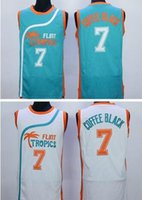 best flint - Hot sale Flint Tropics Semi Pro Movie Throwback Basketball Jersey Coffee Black Green White Best Stitched Quality