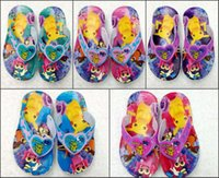 Wholesale Newly Hot Kids Slippers Poke Go Boys Girls Splint Slippers Sandal Slippers Beach Slippers Free DHL