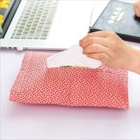Wholesale Creative Cloth Home Car Tissue Case Box Container Towel Napkin Papers BAG Holder BOX Case Pouch