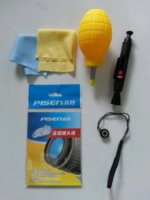 Wholesale 5 In Cleaning Kit Camera Lens Pen Cleaning Pen Cloth Clean air blowing Lens Paper