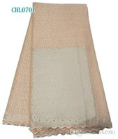 Wholesale yards african swiss voile lace high quality cotton African lace for wedding party dress CHL07