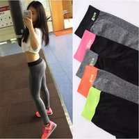 Wholesale Stretch Spandex Pants Wholesale - 2016 New Move Brand Sex High Waist Stretched Sports Pants Gym Clothes Spandex Running Tights Women Sports Leggings Fitness Yoga Pants