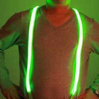 Wholesale USB rechargeable Bright Led suspenders Unisex Flashing Suspenders Adjustable Light up suspenders