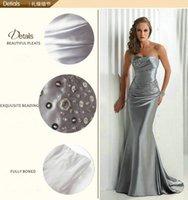Wholesale Mermaid Burgundy Royal Blue Evening Gown Silver Gray Cheap Long Evening Dresses Bridesmaid Dress Vestidos De