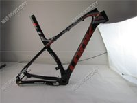 bicycle frame carbon mtb - 2017 Black Fluo Red EPOST full K mtb carbon bike frame with stem seat post mountain bicycle full K Size S M L in ER