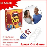 Wholesale 2016 Speak Out Game KTV party game cards for party Christmas gift Fibreboards type speak out game interesting game speak out board