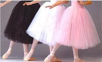 ballet tutu designs - Adult Long Design Ballet Skirt White Tutu Skirts Hard Tulle Dress Costume Puff Skirt Performance Dress