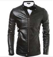 Wholesale Men s fashion new wave of young male essential men s fashion Korean Slim leather jacket