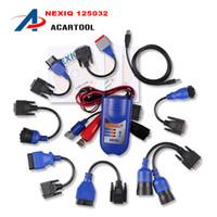 al por mayor bluetooth nexiq-2016 NEXIQ NO Versión Bluetooth Nexiq 125032 Enlace USB con todos los adaptadores nexiq herramienta de diagnóstico de camiones, nexiq 125032 usb link dhl free