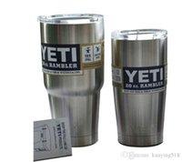 Wholesale YETI YETI oz Cup Cooler YETI Rambler Tumbler For Travel Vehicle Beer YETI Mug Tumblerful Bilayer Vacuum Insulated Stainless Steel