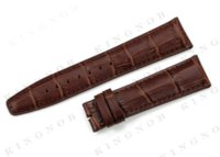 alligator tags - Dark Brown mm straps leather Bracelet Band for Tissot watch strap mm Watchband Alligator Grain wristband for iwc watch