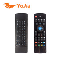 Wholesale 10pcs X8 Air Fly Mouse MX3 GHz Wireless Keyboard Remote Control Somatosensory IR Learning Axis without Mic for Android TV Box