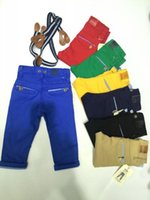 baby pants belt - Boys Pants Colors Baby Kids Boy Pants Baby Boy Trousers Mixed Batch Colors Elastic Cotton Free With Infafnt Belt Baby Boy Pants