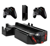 Wholesale free ship in1 Radiator Cooling Fan Stand Dual Dock Controller Charger Charging Station for XboX One