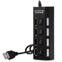 Wholesale External Multi Hub Expansion Ports USB On Off Switch LED Splitter USB Hubs