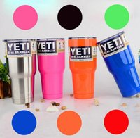 Wholesale Yeti oz oz Cups Cooler YETI Rambler Tumbler Travel Vehicle Beer Mug Double Wall Bilayer Vacuum Insulated OTH242