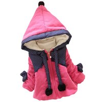 Wholesale The little girl hoodie coat jacket Winter child outerwear children coat girl s jackets baby zipper coat clothing girl clothes