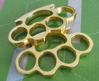 best gifts selling - 2016 NEW HOT SELL BEST GIFT GILDED THICK STEEL BRASS KNUCKLE DUSTER MM