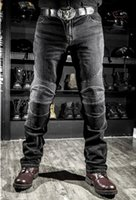 Wholesale Anti Shrink Windproof Riding Jeans Casual Anti Foul Rip Stop Removeable Zipper Fly Male Racing Pants