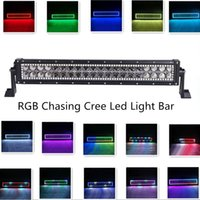 bars combo - 22 Inch Straight W Cree Led Light Bar RGB Flow Halo Ring Solid Colors Changing and Many Flashing Modes Warning Led Light Bar Combo Beam
