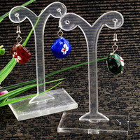 acylic stand - mm Shoot Clear Acylic Earring Display Stand Holder New Showcase Table Counter Fashion Jewelry Stand Hot Sale