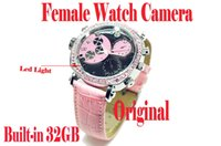 Wholesale Waterproof HD P Hidden Watch Video Recorder Camera DVR Female watch camera with led light