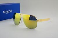 Livraison en gros sans meilleure qualité en acier inoxydable MYKITA Franz avec des lunettes de soleil de style lunettes de soleil femmes et les hommes de mer plage de la marque vs cas