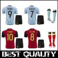 Wholesale Top quality soccer jerseys From belgium kits Home Away Soccer Jersey set Shirt Belgium Shirt Belgium Jersey sets