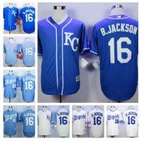 Wholesale 16 Bo Jackson jerseys colors World Series Champions Patch Kansas City Royals cool base baseball Jersey