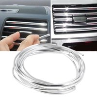 interior trim - 4m x mm U Shape DIY Car Interior Air Vent Grille Switch Rim Trim Outlet Decoration Strip Moulding Chrome Silver