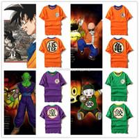 anime shirt designs - Dragon Ball Z cosplay Design Goku Master Roshi Piccolo Chiaotzu Anime Dragonball Summer Tops Tees T shirts