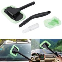 Wholesale Microfiber Auto Window Cleaner Long Handle Car Wash Brush Dust Car Care Windshield Towel Handy Car Cleaning Tool Hot Selling